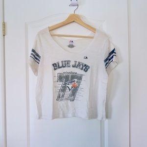 BLUE JAYS WHITE BASEBALL T-SHIRT